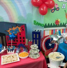 Dulces y decoración fiesta del Capitan America