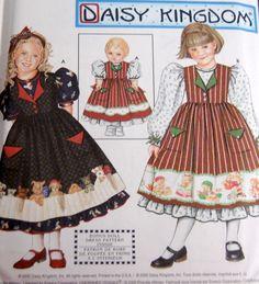 Uncut Simplicity 9434 Daisy Kingdom Girls Size 3 4 5 6 Pattern Doll Dress Bonus  #Simplicity