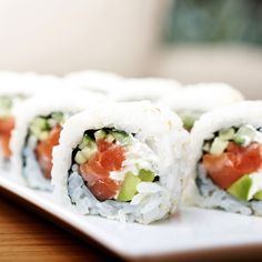 Take a trip to sushi school! It's really not as difficult to make sushi as you may think. Contributing editor Candice Kumai and chef Hung Huynhfrom The General in New York City show you how to make traditional maki sushi rolls using cucumber, crab, and avocado.