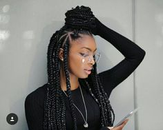 pinterest // .@kjvouge✨   #cabelo natural #pelo Natural Black Hair Box Braids