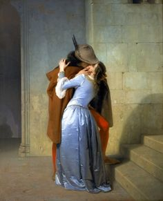 The Kiss Romanticism Francesco Hayez art for sale at Toperfect gallery. Buy the The Kiss Romanticism Francesco Hayez oil painting in Factory Price. Magritte, Moritz Von Schwind, Art Amour, Foto Poster, Romantic Paintings, Pre Raphaelite, Oil Painting Reproductions, Art Plastique, Art Paintings