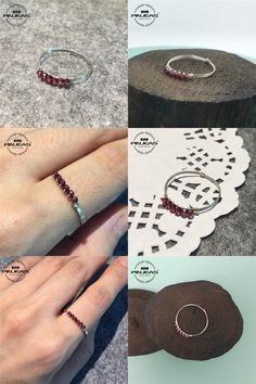 [Visit to Buy] PINJEAS 925  Ring Light red cut bead simple  ring Handmade High Quality vintage Jewelry stackable promise Charm ring #Advertisement