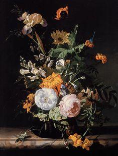 Rachel Ruysch-Still Life of Summer Flowers