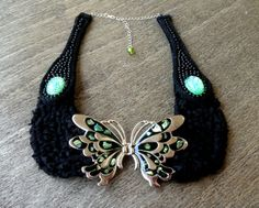 Vintage Butterfly Collar Necklace Blog | Ariana Subhani