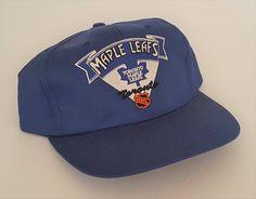 561338c48c9 Vintage Toronto Maple Leafs 100% Cotton Snapback Hat NHL VTG