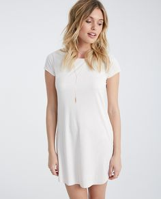 Faux Suede Dress With Shirttail Hem | Wet Seal