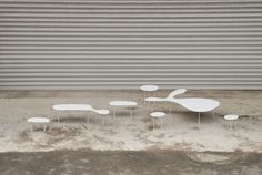 Rabbit Tables & Chairs from design duo Timo Wong & Priscilla Lui of Studio Juju