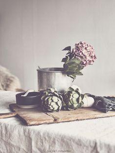 artichoke & hydrangea