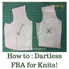 Sewing Tops Sew Sarah smith - Today's mega topic for discussion is all about creating dartless Full Bust Adjustments for knit sewing patterns. There are loads of different methods out there; Sewing Hacks, Sewing Tutorials, Sewing Patterns, Sewing Tips, Sewing Ideas, Craft Tutorials, Craft Ideas, Full Bust Adjustment, Leftover Fabric