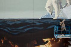 """""""Last Island"""" von Onur: Unsere Erde wird immer wärmer  Erst vor wenigen Tagen hatten wir das Mural """"Recycling Kingdom"""" hier auf dem Blog, das der Street Artist Rustam QBic im neuseeländischen Napier hin..."""