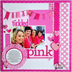 Doodlebug Design Inc Blog: Color Challenge - Bubblegum Scrapbook Layout by Tya