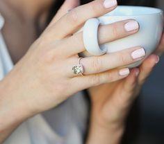 2.65ct Jasmine green Aquamarine halo diamond ring, rose gold ... this is perfect!!