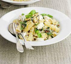 Courgette & ricotta pasta from good food Bbc Good Food Recipes, Healthy Dinner Recipes, Drink Recipes, Vegetarian Recipes, Dessert Recipes, Risotto, Ricotta Pasta, Zucchini Pasta, Pizza