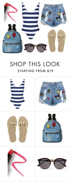 """Untitled #51"" by bettina-agoston on Polyvore featuring Perfect Moment, Disney Stars Studios, Havaianas, IMoshion, Lapcos and Illesteva"