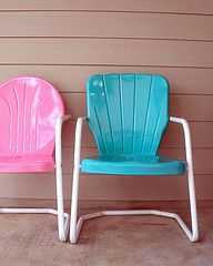 Reminds me of days with Granddad and Grandma!  Love these chairs!