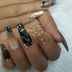 Awesome Nailartgang On Instagram Nude And Black And Gold
