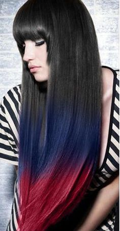 Three-Colors Ombre Indian remy clip in hair extensions. / (use code 'saravp' for $10 off.) #hair #haircolor #ombre