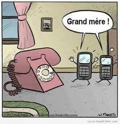 Les téléphones mobiles rencontrent leur grand-mère ! :-)