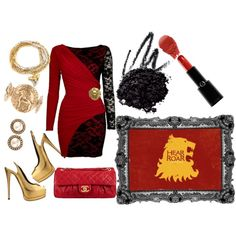 """""""Hear Me Roar"""" - House Lannister, fashion inspired from Game of Thrones"""