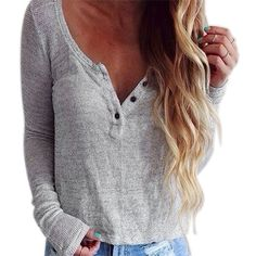 Basic Slouchy Boho Long Sleeve Shirt