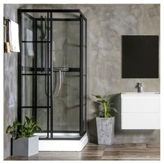 Brusekabine Bathlife Betrakta Rak 90 x 90 x 200 cm - home/mobel Spa Bathroom Design, Best Bathroom Designs, Bathroom Spa, Bathroom Layout, Modern Bathroom, Family Bathroom, Grant House, White Master Bathroom, Shower Fittings