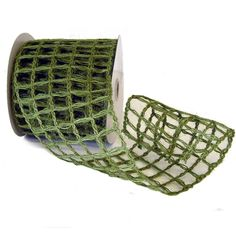 Jute Ribbon Wired Color: Fern Green Size: 4 in width; 10 yards length Material: Jute Edges wired along with additional wire on vertical lines