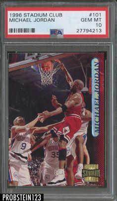 fa5172bc5e96cb 1996 Stadium Club  101 Michael Jordan Chicago Bulls PSA 10 GEM MINT  Basketball Rules