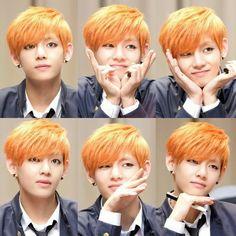 Ommoooooo Taehyung cute face :3