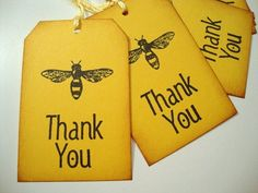 Bee Thank You Gift Tags Garden Party Favor Tag