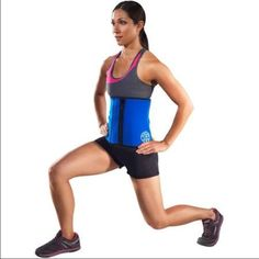 Gold's Gym Waist Trimmer Color: Blue, Has zippers all around to adjust to your stomach size as it goes down (rather than Velcro or hooks). I only used it once and hand washed it. Creases are due to folding and storing. Cheaper alternative to a waist trainer. Perfect to zip on and use during a work out. Free gift with Purchase. $8, Price Firm!!! Gold's Gym Intimates & Sleepwear