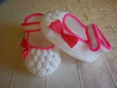 Croche pro Bebe: Sapatinhos
