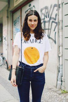 ganni orange