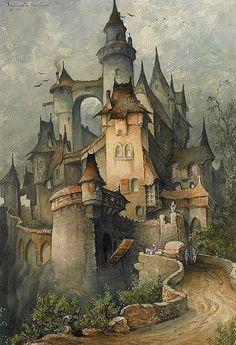 File:Hanns Bolz Romantische Burg 1903 Aquarell.jpg