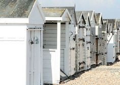 Beach Huts #white #grey #beachhuts