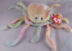 "TY Retired Beanie Baby ""Goochy"" Stuffed Plush Beenie Jellyfish Rare 5th Gen Toy"