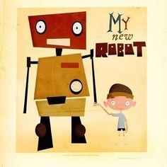 Beep, Boop: Retro Robot Prints | Apartment Therapy