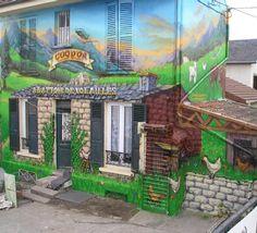deco graffiti graff tag mur maison facade trompe l oeil g... - Fotolog    fotolog.com
