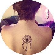 Dreamcatcher Tattoo Design: On the Middle Back