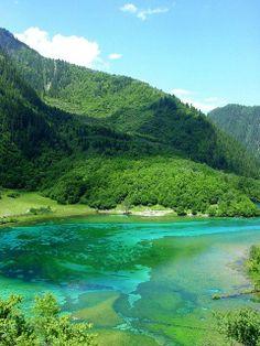 Jiuzhaigou Valley Sichuan Province China By Feffi