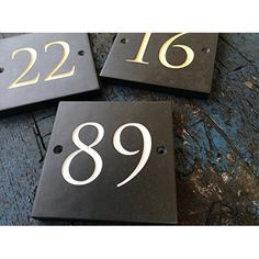 Large Engraved Slate House Number