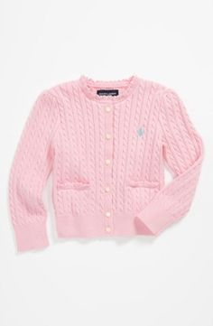 Ralph Lauren Cable Knit Cardigan (Toddler) $49.5 by tabitha