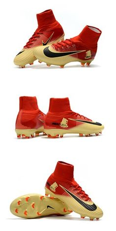 Nike Mercurial Superfly 5 FG ACC Chaussures de Foot Rouge Or