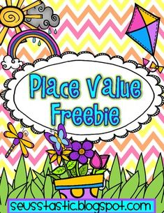 adorable spring freebie on place value