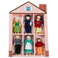 Small wooden dolls are perfect for block or dollhouse play.  If you are purchasing for a dollhouse, just make sure they are the right size to fit.