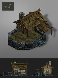 3DOcean low poly wood house 1 6536452