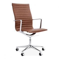 Cult Living Ribbed Office Chair with High Back - Smokey Grey Comfortable Office Chair, Executive Office Chairs, Office Chair Without Wheels, High Back Chairs, Sofa Sale, Chairs For Sale, Mid Century Design, Lounges, Kaffee