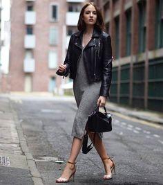 Wonderful Lizzy Hadfield /  @shotfromthestreet wearing our #leatherjacket ♥ #anaaga #classy #shotfromthestreet #bikerjacket #anaagaisthenewblack