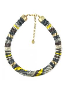Collier de perles de rocaille multicolore | Bala Boosté