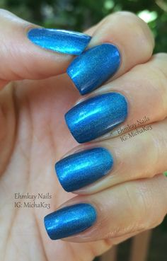 Blue-Eyed Girl Lacquer  Chlorine Line  http://ehmkaynails.blogspot.com/2014/07/blue-eyed-girl-lacquer-summer.html