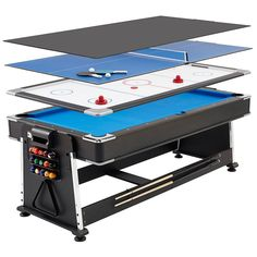 Mightymast Revolver 7ft 3-in-1 Pool, Hockey and Table Tennis